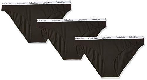 Calvin Klein Damen Bikini 3PK Panties, Schwarz (Black 001), L