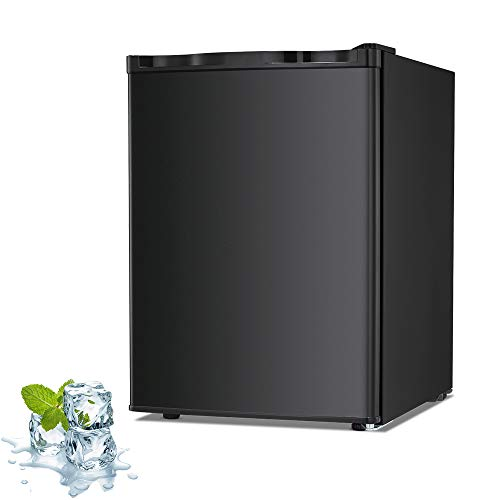 Joy Pebble Free Standing Upright Freezer with Removable Shelf, Adjustable Thermostat, Compact...