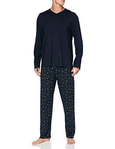 CALIDA Herren Relax Imprint 3 Pyjamaset, Dark Sapphire, S