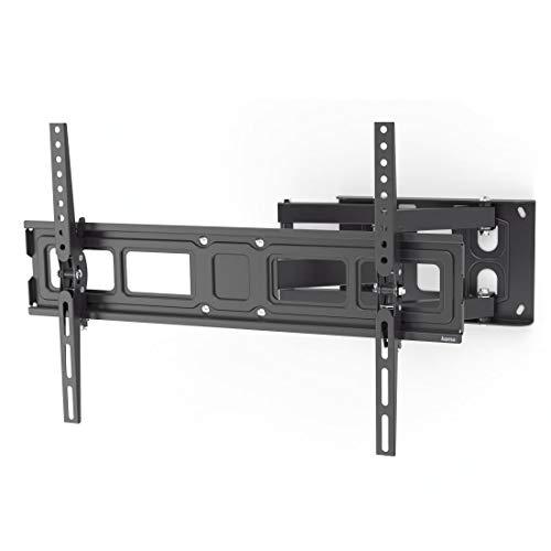 Hama TV Wandhalterung Schwenkbar, Neigbar (32 - 84 Zoll TV Halterung für Fernseher bis zu 50 kg, max. VESA 600x400, Ausziehbare Fernsehwandhalterung inkl. Fischer-Dübel & Bohrschablone) schwarz
