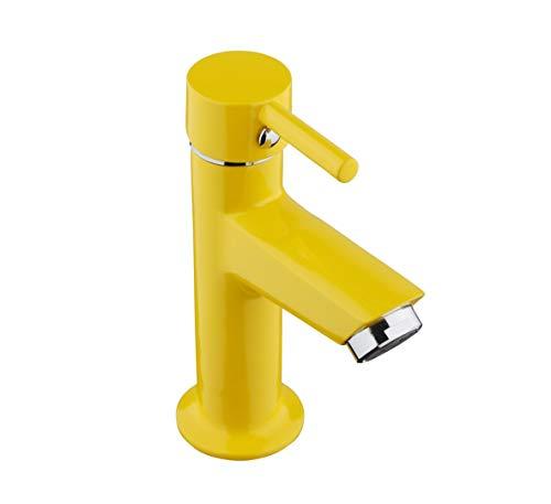 NINO - Grifo de agua fría para lavabo, grifo de cocina, latón amarillo