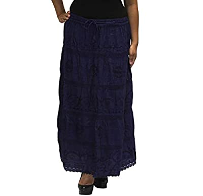 BombayFashions Full Length Womens Ethnic Peasant Bohemian Gypsy Skirt 30 COLORS