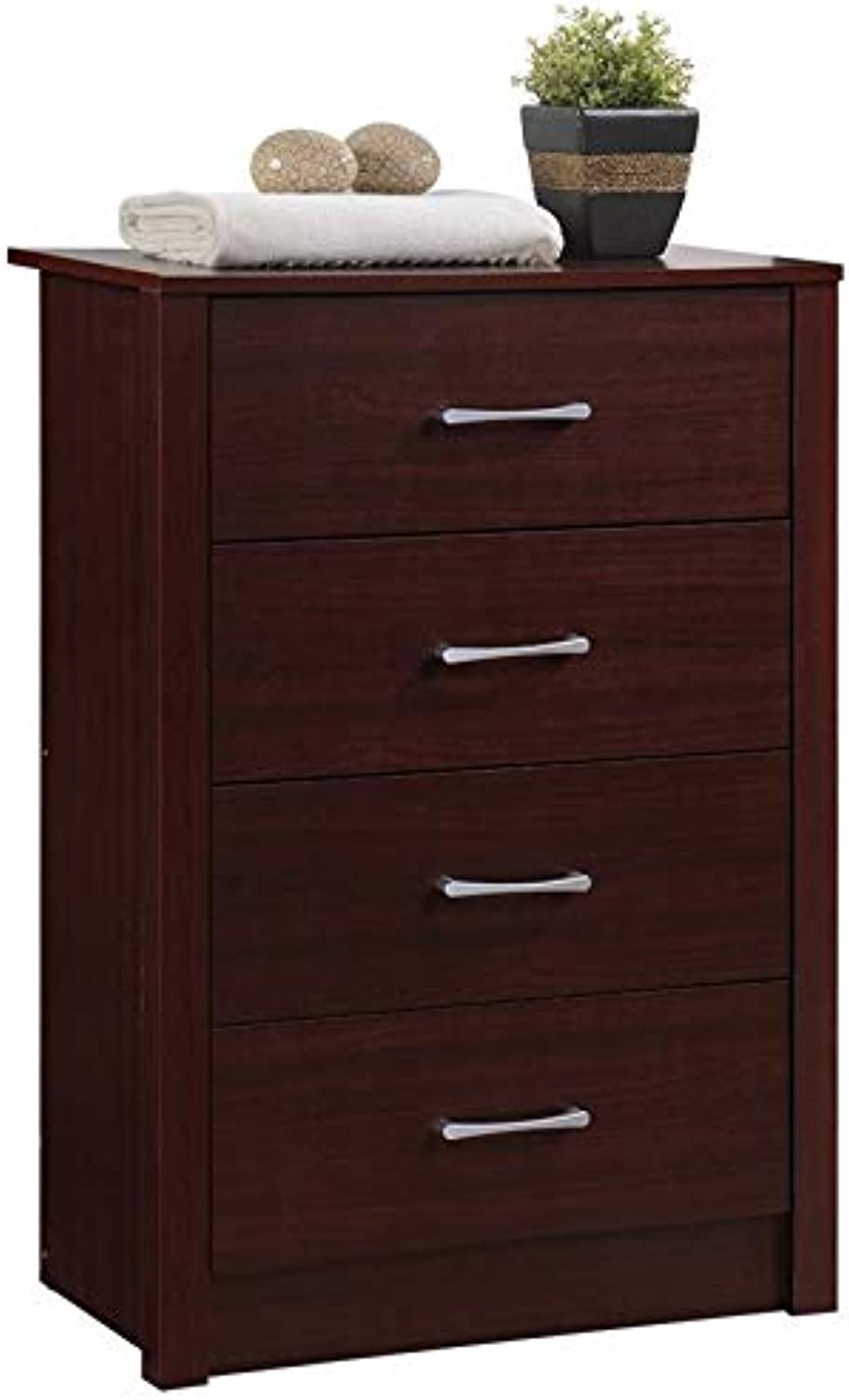 Pemberly Row 4 Drawer Chest in Mahogany