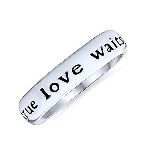 Bling Jewelry Mantra sentimentales Palabras Amor Verdadero Espera pureza Promesa...