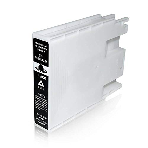 T7551 Cartuccia Compatibile Nero Per Epson WorkForce Pro WF-8010 WF-8090 WF-8510 WF-8590