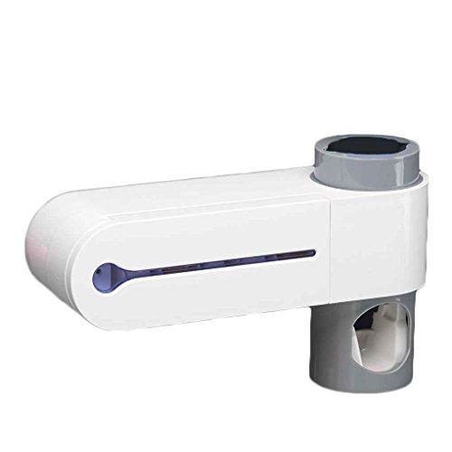 Dispensador automático de la Crema Squeeze Cepillo de Dientes esterilizador del Cepillo de Dientes Titular Limpiador Antibacterial baño Luz UV Conjunto