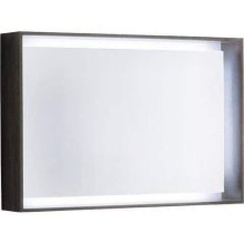 Keramag Geberit Citterio Lichtspiegel 500572JJ1, 88,4x58,4x14cm, Holzstruktur Eiche Graubraun