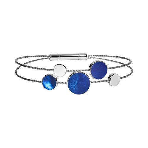 Skagen SKJ1264040 Damen Armband AGNETHE Edelstahl Silber blau 18 cm