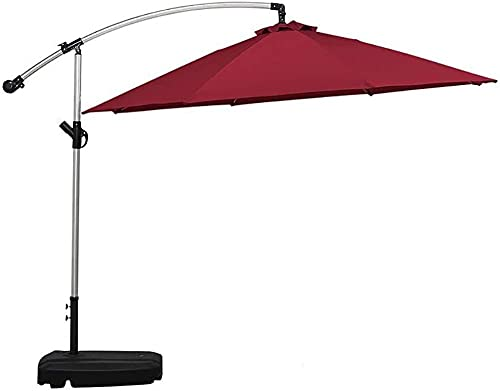 YRRA Parasol Outdoor Sun Schutz im Freien stehend einzelne Banane Regenschirm im Freien Strandhof Freizeit Freizeit im Freien Regenschirm-3M_Red-Wine