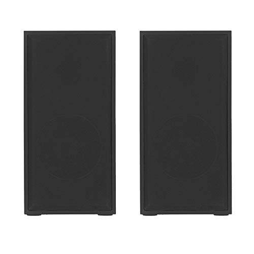 TELLUR Altavoces básicos 2.0, 6 W, USB/Jack, Caja de Madera, Control de Volumen, Color Negro