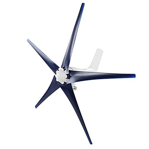 Generador de turbina eólica,Generador de turbina eólica, generador de molino de viento 1200 W, turbina eólica para empresas, controlador de viento de 5 palas, kit de generador de turbina para barcos,