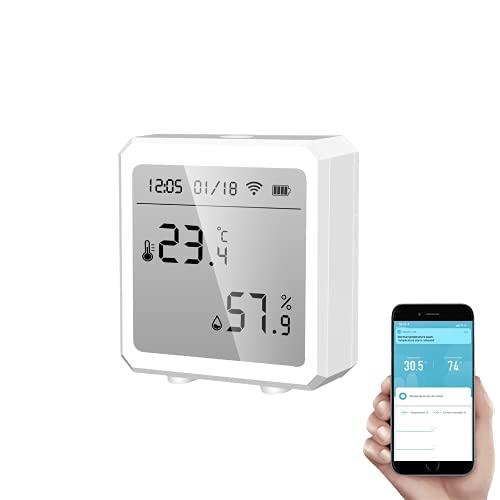 Akin Smart Termometro igrometro WiFi+Bluetooth Sensore di temperatura e umidità con...