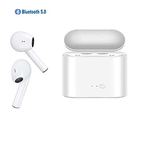 Somlato Bluetooth 5.0 Wireless Earbuds with Charging Case Bluetooth Headphones Stereo in-Ear Built-in Mic Headset True Sport Earbuds