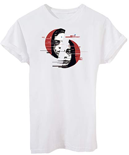 iMage T-Shirt Elliot Mr Robot - Serie TV - Uomo-M-Bianca