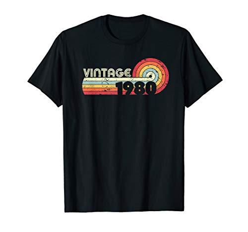 Vintage 1980 Birthday T-shirt for Men