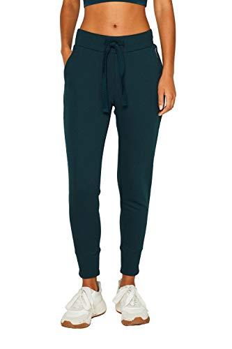 ESPRIT Sports Damen Pants Sweat sl Sporthose, Grün (Dark Teal Green 375), W(Herstellergröße: XL)