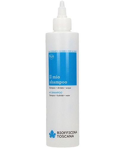 Botella para Mezclar Champú Azul Biofficina Toscana 250 ml