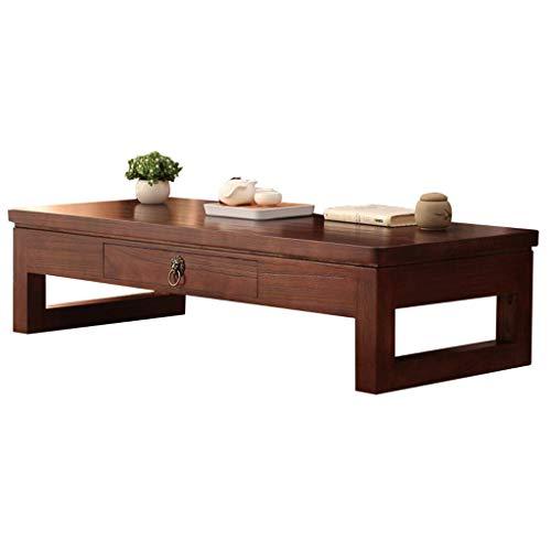 N/Z Tägliche Ausrüstung Staub Real Design Holztisch Mitteltisch Massivholz Beistelltisch mit lagerbeständiger Arbeit zu Hause Breite 50/60 / 70cm