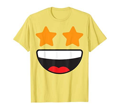 Star Eyes Face Emoji Easy Lazy Group Halloween Costume T-Shirt