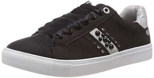 Dockers by Gerli Damen 44MA202-680155 Sneaker, Schwarz (Schwarz/Silber 155), 41 EU