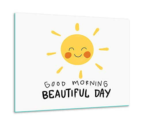 QTA | fornuisafdekplaat 60 x 52 cm keramische afdekking 1-delig universeel elekrofornuis inductie voor kookplaten fornuis spatbescherming snijplank zon