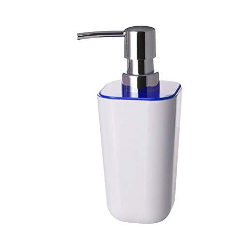 Emulsion de Mousse de cône carré Vide Bouteille de pressage Distributeur de shampooing Soins de la Peau Bouteilles d'eau Rechargeables Récipient cosmétique Multifonctionnel (Bleu)
