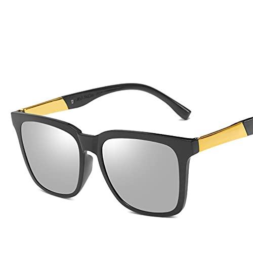 AMFG Marco Cuadrado Gafas De Sol Para Hombre Gafas De Sol Gafas De Sol Chocolate Retro Gafas De Sol Sunshade Mujeres (Color : B)