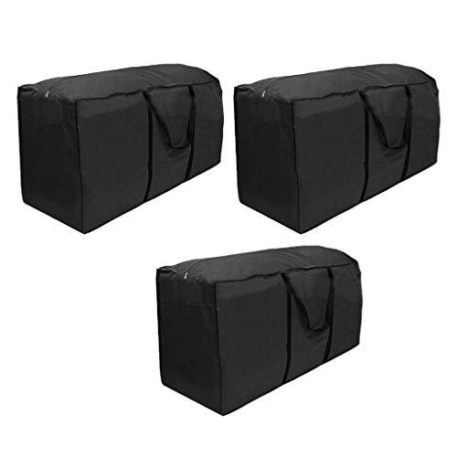 B Baosity Bolsa de Almacenamiento de árbol de Navidad de 3 Piezas Material Impermeable Que Protege Del Polvo, Negro