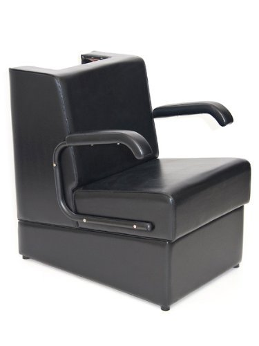 BR Beauty'Kate' Professional Hair Dryer Chair for Salons, Heavy Duty Wood Frame & Comfortable Black Cushions, 31 Inches High, 23.5 Inches Wide, 30.5 Inches Deep, OD-431
