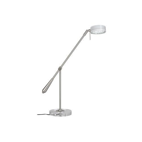Paulmann Leuchten Schreibtischleuchte Disc LED 3,7W 12V, Metall / Acryl, eisen gebrüstet / klar 77051