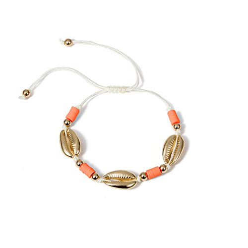 N/A Bracelet jewelry Boho Shell Charm Bracelet for Women Colorful Beads Friendship Bracelets Adjustable Rope Bracelet Bangles Jewelry Gift Valentine's Day present