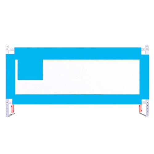 X-L-H Barrière De Lit Pour Enfant Barrière De Lit Pour Bébé À Levage Vertical Grand Lit Universel 1.5/1.8 / 2m (Couleur : Bleu, taille : L-1.8m)
