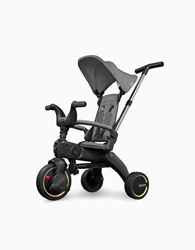 Triciclo Evolutivo Plegable - Liki Trike S1 Grey Hound - 62,1 cm x 50,1 cm x 84,9 cm - El Triciclo Plegable Más Compacto - Se Pliega y Despliega en 3 Segundos - Triciclos para Bebé - Doona