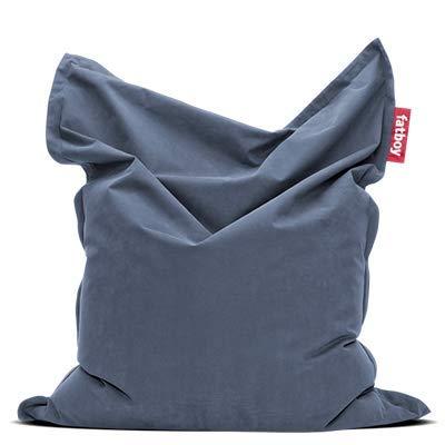 Fatboy® Original Stonewashed blau Sitzsack | Klassischer Indoor Beanbag aus Baumwolle, Sitzkissen | 180 x 140 cm