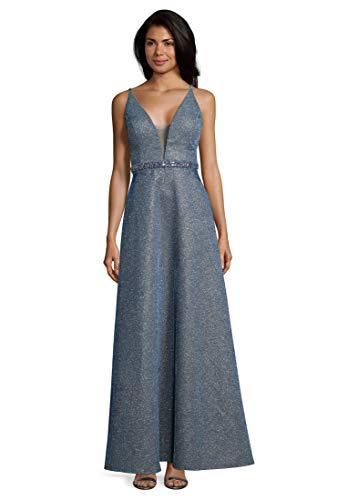 Vera Mont Damen 8119/4723 Partykleid, Blau (Silver Blue 9184), (Herstellergröße: 40)