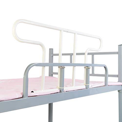HLMIN Bettgitter Zwei Nähte Bettgitter Wache Stehhilfe Hilft Beim Schlafengehen,Obere Schlafkoje ,Für Ältere Menschen, Behinderte, Kinder, Erwachsene, Eisenrahmen (Color : White)