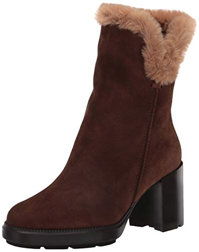 Aquatalia Women's Cold Weather Boot Ankle, Chestnut/Sand, 9.5