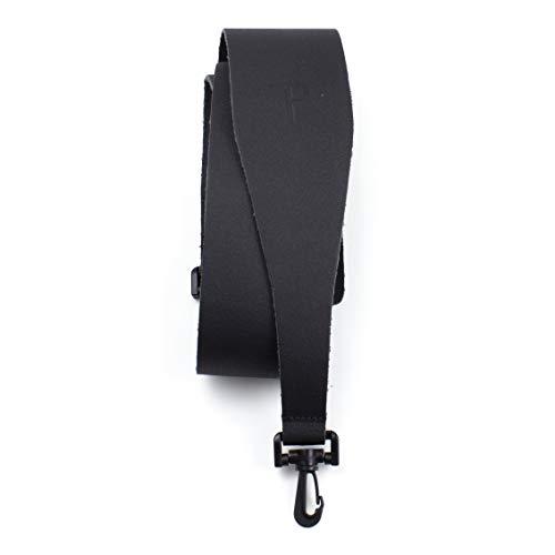 Perri's Leathers Ltd. - Banjo Strap – Leather - Black - Adjustable – Made in Canada (BBJ-87)