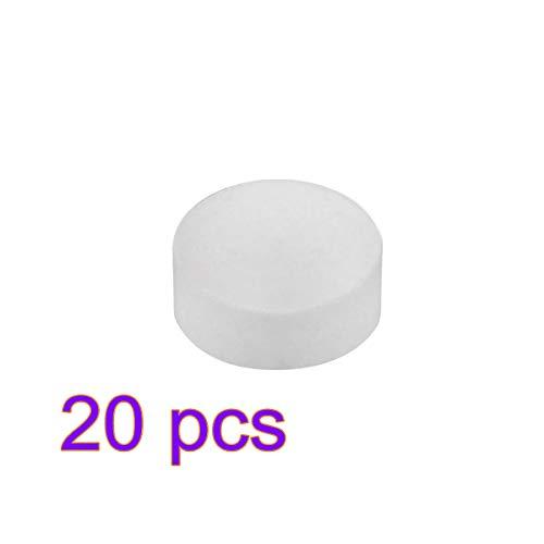 Descaling Tablets - Professionele reinigingstabletten Descaler Stain Remover voor Jura Bosch Siemens AEG Krups Koffiemachines 20PCS Kleur: wit