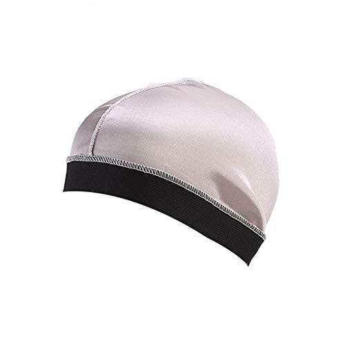 iYmitz Langes Haar Cap Pflege Frauen Mode Mütze Nacht Schlaf Seide Cap Head Wrap Schnell Trocknende Faltbar Hut(Splitter,One size)