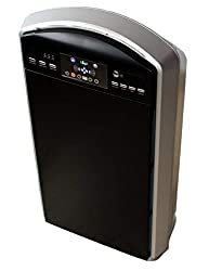 Baren HEPA air purifier B-785 with air sensor, very quiet, ionizer, photo catalyst, ozone & bedroom function, silver / black