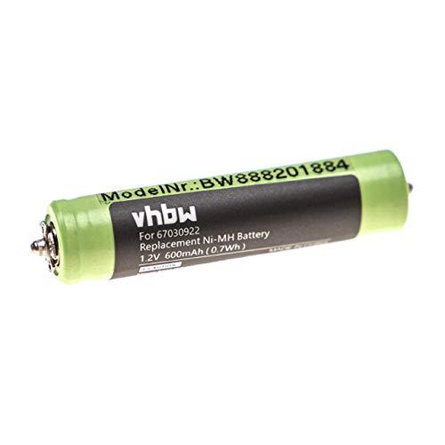 vhbw batería compatible con Braun FreeControl, MG5010, MG5050, MG5090, Multigroomer afeitadora cortadora de pelo (600mAh 1,2V)
