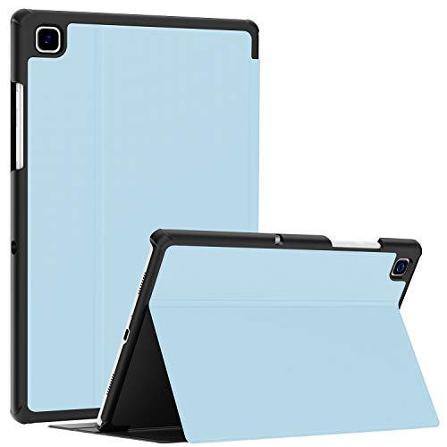 Soke Hülle für Samsung Galaxy Tab A7 10.4 (2020 Modell SM-T500 / T505 / T507), Folio Slim TPU Leder Schutzhülle Smart Cover, mit Auto aufwachen/Schlaf Passt für Galaxy Tab A7 Hülle, Eisblau