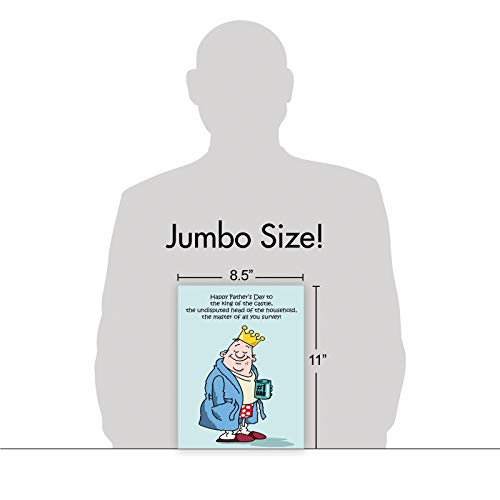 NobleWorks - Jumbo Fathers Day Card Funny (8.5 x 11 Inch) - Hilarious Greeting Notecard for Dads, Grandpa - King Of The Castle J0239 Photo #2