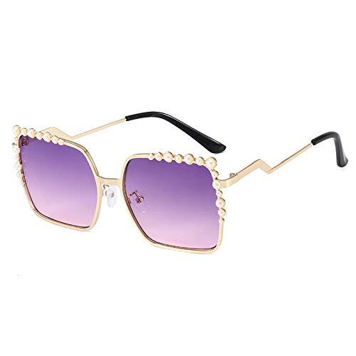 hqpaper Gafas de sol de moda personalizadas con montura de gafas de sol, montura dorada, tabletas de polvo morado