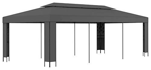 ZHENG Gazebo Plegable Carpas Plegables Refugio de toldos de jardín con toldos al Aire Libre, 3x6m