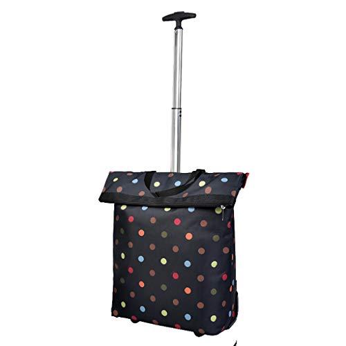 RTTgv Einkaufstrolleys Zusammenklappbare Einkaufswagen und Mobile Zubehörtasche Einkaufskorb tragbare Radverschönerung einfach im Obergeschoss