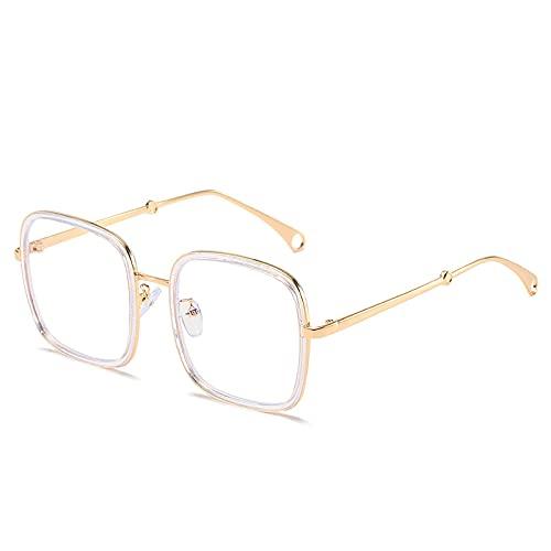 Astemdhj Gafas de Sol Sunglasses Gafas De Sol Rectangulares De Gran Tamaño para Mujer, Vintage, Azul, Rosa, con Lente De Océano, Gafas De Sol Grandes De Lujo, Monturas para Mujer,Anti-UV