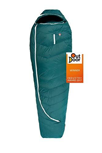Grüezi-Bag Biopod DownWool Subzero 200 Allround-Schlafsack Winter/Herbst, 230x85x55cm, bis Körpergröße 200cm, Tkomf 2°C/Tlim -4°C, Packmaß Ø 22 x 25cm