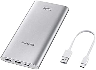 Samsung Fast Advanced Charge Power Bank Battery Pack 15W 10000 mAh with Type-C Cable - Silver